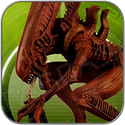 ALIEN RED XENOMORPH (ALIEN PREDATOR EAGLEMOSS FIGURINE COLLECTION)