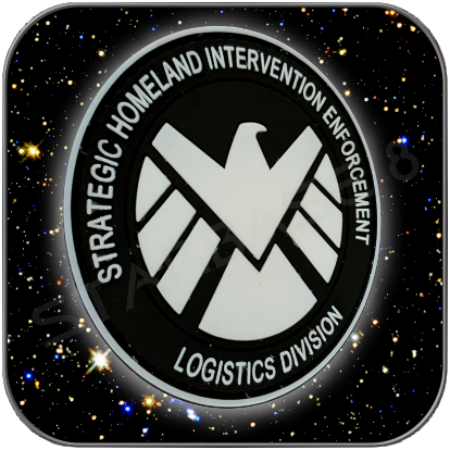 SHIELD LOGISTIC DIVISION PREMIUM PVC EMBLEM mit KLETT GLOW IN THE DARK