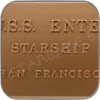 USS ENTERPRISE 1701 WIDMUNGS PLAKETTE / DEDICATION PLAQUE