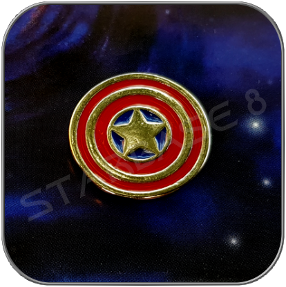 CAPTAIN AMERICA SHIELD 2cm MINI PIN ANSTECKER - MARVEL CINEMATIC