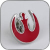 REBELLEN ANSTECKER PIN DUNKEL ROT - STAR WARS