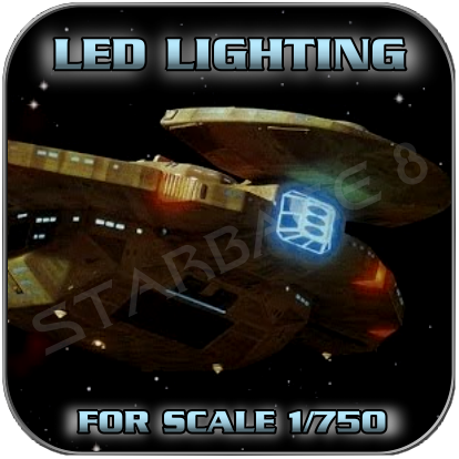LED SET für den 1/750 Bausatz CARDASSIAN GALOR