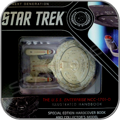 U.S.S. ENTERPRISE 1701-D BOOK SET BOX (EAGLEMOSS COLLECTION)