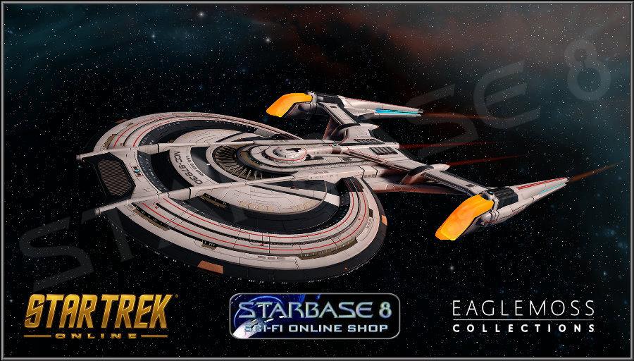 EAGLEMOSS STAR TREK on-line #1 Gagarin CLASSE NAVE STELLARE della Federazione Incrociatore da battaglia
