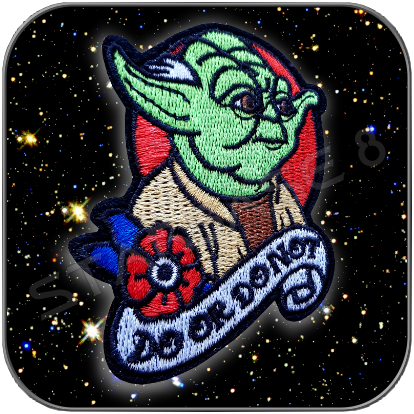 YODA - DO OR DO NOT - AUFNÄHER PATCH