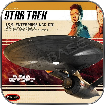 U.S.S. ENTERPRISE - 1/1000 POLAR LIGHTS MODELL BAUSATZ