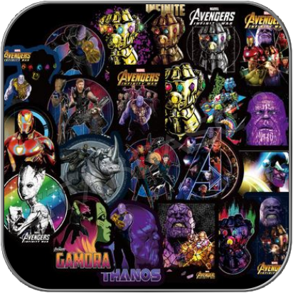 MARVEL CINEMATIC & COMIC PVC STICKER AUFKLEBER SETS