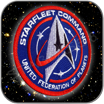 STARFLEET COMMAND UNITED FEDERATION OF PLANETS PREMIUM AUFNÄHER PATCH