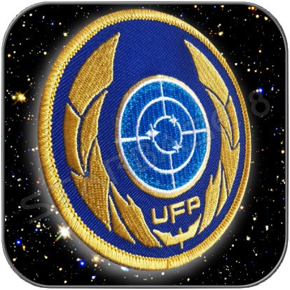 UFP UNITED FEDERATION OF PLANETS PREMIUM AUFNÄHER PATCH