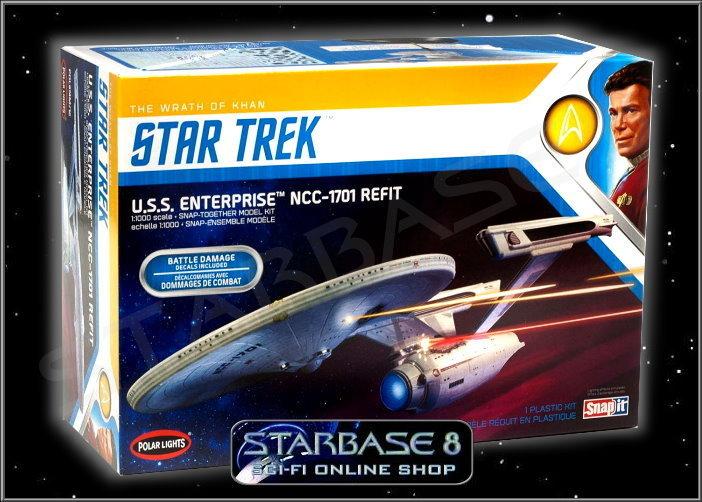 Uss Enterprise 1701 Twok Battle Damage Star Trek 1 1000 Polar Lights Model Kit