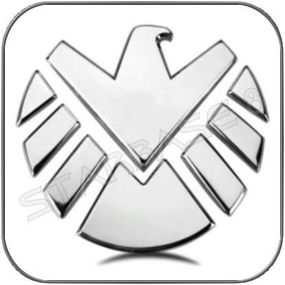 S.H.I.E.L.D. MODERN EMBLEM 3D CHROM OUTDOOR METALL CAR STICKER