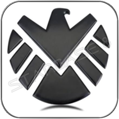 S.H.I.E.L.D. MODERN EMBLEM 3D SCHWARZ OUTDOOR METALL CAR STICKER